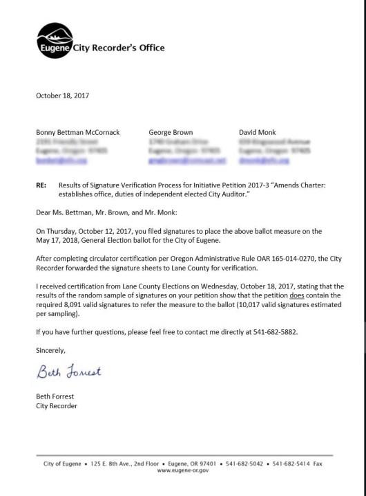 Winning Letter
